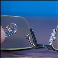 Almohadillas de nariz de silicona suave en forma de D para atornillar GMS óptico - 15 mm (5 pares)