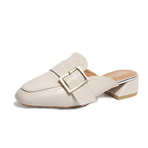(Women's Pointed Toe High Stiellto Heel Slide Pump(Beige 36/5.5 B(M) US Women) )