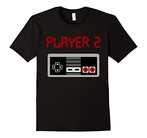Mens Matching Retro Shirt Player 2 Video Game T Shirt 2XL Black