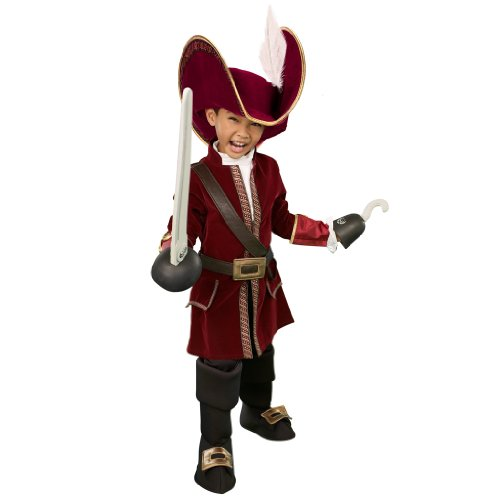 [Disney Store Captain Hook Costume for Boys Size XS 4] (Captain Hook Costumes Disney)