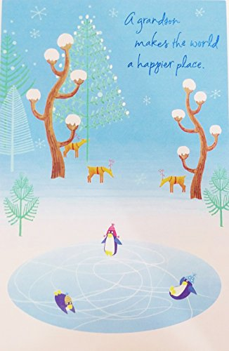 A Grandson Makes The World A Happier Place - Merry Christmas Greeting Card Merry Christmas Wishes For Grandson