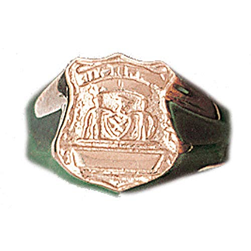 - Jewels Obsession Police Badge Men's Rings | 14K Rose Gold Police Badge Men's Ring - Made in USA (Custom Sizes Available 4-11)