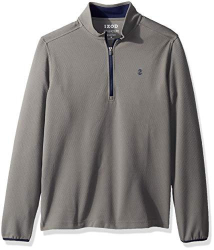 IZOD Mens Advantage Performance Fleece Long Sleeve 1/4 Zip Soft Pullover