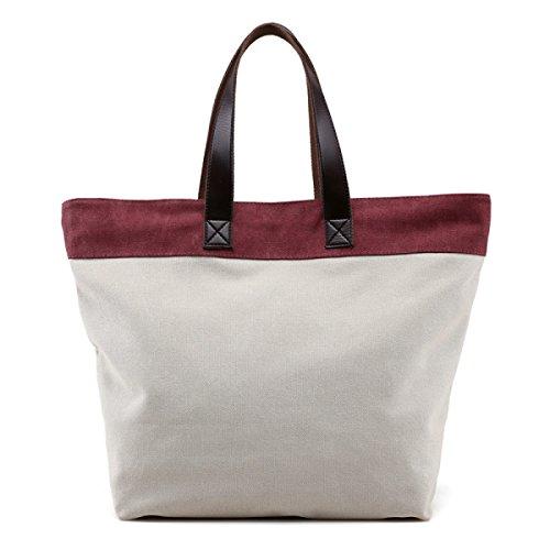 Frauen Jahrgang Leinwand Schulter Aktentasche Messenger Handtasche Schulranzen Multifunktional Tasche ,C-OneSize