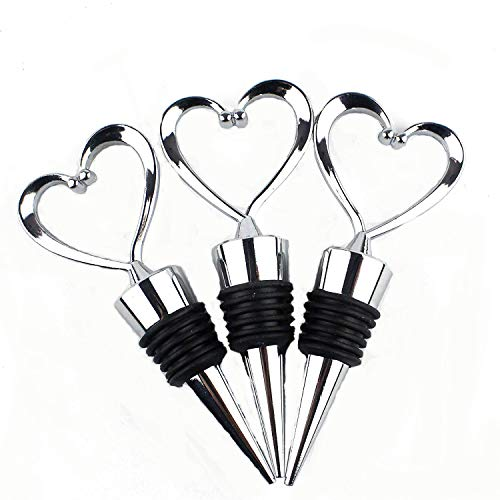 Lovelyou OTHER 11 Stainless Steel Love Design Heart Shape Wine and Beverage Bottle Stoppers (3)