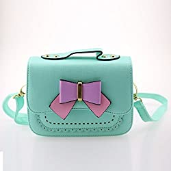 Dodocat Super Cute 3D Design Small Blue Bowknot Messenger Bag Kids Shoulder Bag Crossbody Handbag