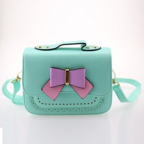 Price comparison product image Dodocat Super Cute 3D Design Small Blue Bowknot Messenger Bag Kids Shoulder Bag Crossbody Handbag