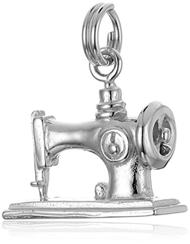 Sterling Silver Sewing Machine Charm (Handcrafted Fine Jewelry Collections)