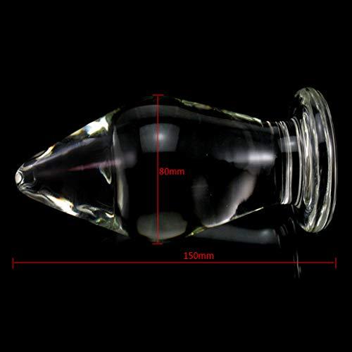Natural Glass Ď`ǐld`o with Huge Smooth Double-Ended Body Safe Â'ňäl Ď`ǐld`o for Female Men by XImerwod (Image #6)