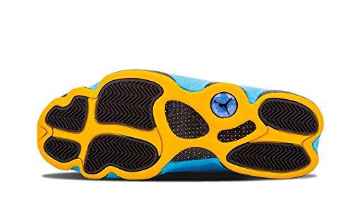 Nike Air Jordan 13 Retro Cp Pe, Zapatillas de Deporte para Hombre Negro / Azul / Amarillo (Black / Sunstone-Orion Blue)