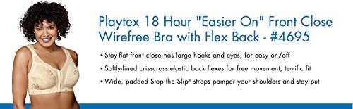 6de817579a5a2 Playtex Women s Front-Close Full Coverage Bra with Flex Back  4695 at  Amazon Women s Clothing store  Bras