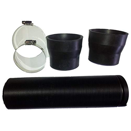 Festnight Flexible Turbo Black Cold Air Intake Duct Feed Induction Ducting Rubber Joint Pipe Hose 76mm 3inch