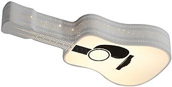 WoOnew Lámpara de techo de hierro forjado de la guitarra Niño ...