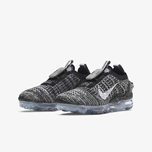 41bWVBRkPSL. AC Nike Boys AIR Vapormax 2020 Flyknit Running Shoes Grey/Black    Add some pep to your step in the Nike Air VaporMax 2020. The unique Air shape stretches from heel to toe for an out-of-this-world look that feels like you're walking on air. Flyknit construction wraps your foot in soft comfort and style that stands out amongst the crowd.