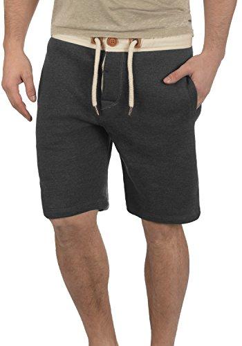 Con Hombre 8288 Para Bermudas Tripshorts solid Tacto Al Grey Melange Sweat Suave Corto Polar Chándal Dark Pantalón Forro XqYSTT0w8