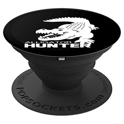 Alligator Hunter Art | Cute Gator Catchers Design Gift - PopSockets Grip and Stand for Phones and Tablets