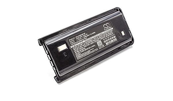 KNB-53 walkie-Talkie como Kenwood KNB-29 para Radio 7.4V KNB-30 KNB-29N vhbw Li-Ion bater/ía 1800mAh KNB-30A KNB-53N