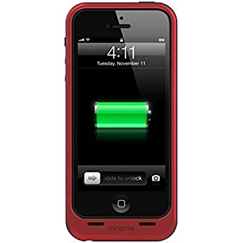 the best attitude 226a4 8ccde mophie Juice Pack Air Protective Case for iPhone 5, 5S and 5SE, Red