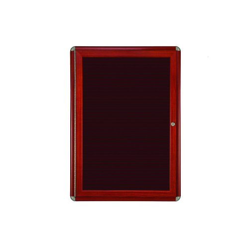 Ghent 1 Door Ovation Letter Board, Burgundy w/Cherry Chrome Frame, 24-1/8''w x 33-3/4''H by Ghent