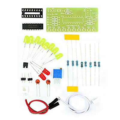 LM3915 10 LED Sound Audio Spectrum Analyzer Level Indicator Kit DIY Electoronics Soldering Practice Set