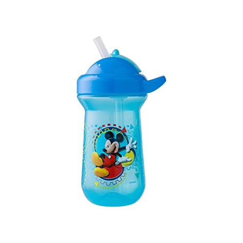 The First Years Baby Mickey Mouse Flip Top Straw Cup, 10 oz, 1 pack by The First Years