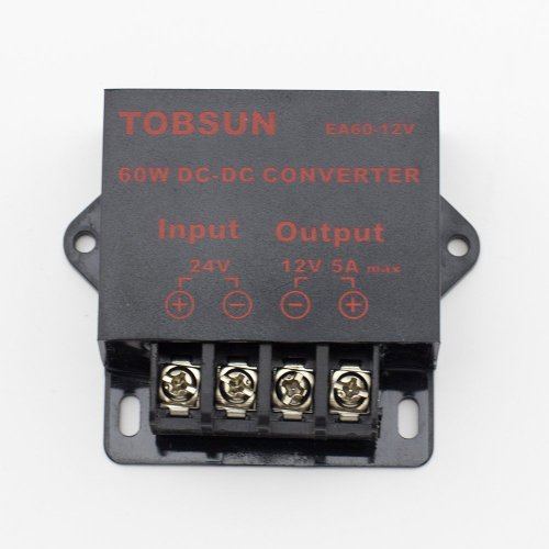 SINOLLC DC 24V to 12V 5A 60W Converter Step Down Regulator for Car Low Voltage Transformer