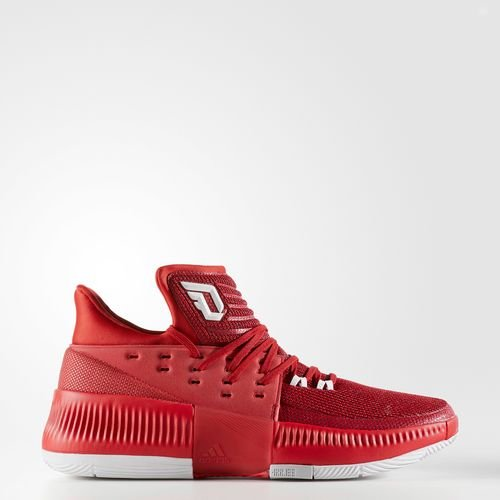 adidas Men's Dame 3 Basketball Shoe Red/White/Grey Size 10.5 M -