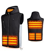 BURIBURI Heated Vest Electric Heating Clothing for Men Women with Battery Included
