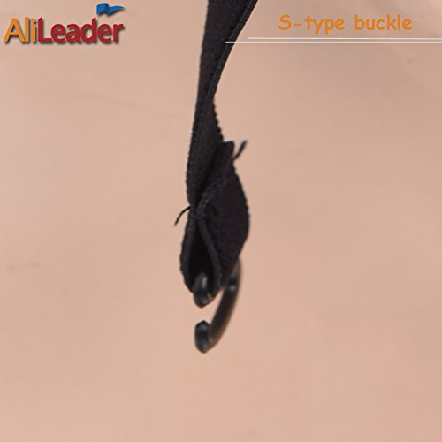 Black Double Lace Wig Caps For Making Wigs Hair Net with Adjustable Straps Swiss Lace Large Size from AliLeader by AliLeader (Image #9)
