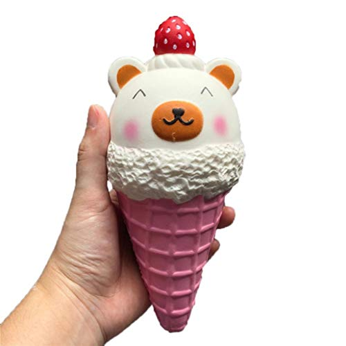 Telephone Kitty Hello (Unpara Strawberry Ice Cream Bear Squishy Toy Stress Reliever Slow Rising Cream Scented Charm Toy (Pink))