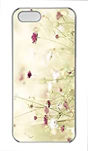 Customized cases for iPhone 5S Pc Transparent Case Wildflowers 3