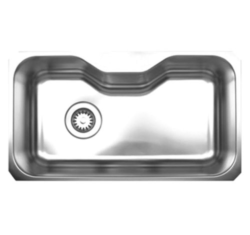 Whitehaus WHNUA3016-BSS Noah's Collection 32 1/2-Inch Single Bowl Undermount Sink, Brushed Stainless Steel ()