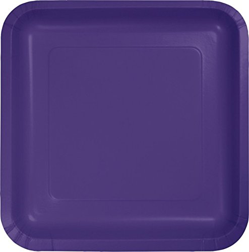 - Purple 9 inch Square Paper Plates: Case of 180
