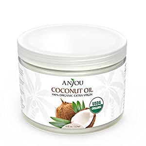 5. Anjou 100% Organic Extra Virgin Coconut Oil