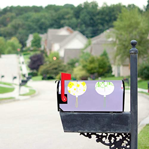 THKDSC Seashore Shell Wind Bells in Summer Mailbox Covers Standard Size Original Magnetic Mail Cover Letter Post Box 21