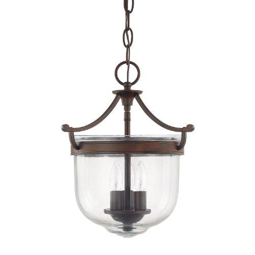 (Capital Lighting 9411BB Covington 3-Light Foyer Fixture with Clear Glass, 11
