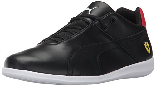 PUMA Men's Ferrari Future Cat Casual Sneaker, Black Black-Rosso Corsa, 5 M US