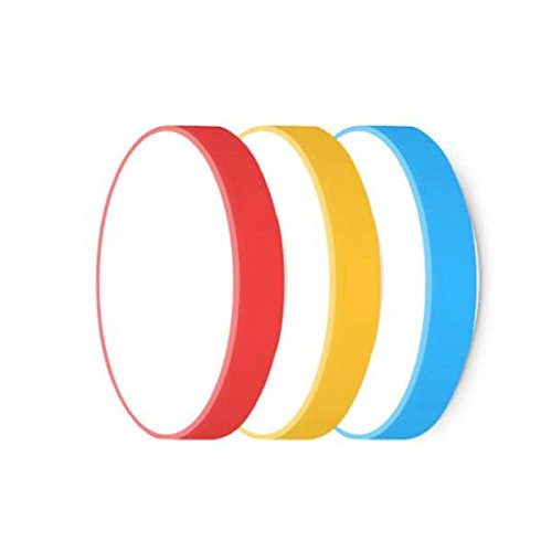 (Led Ceiling Light - Smart Ceiling Light - 28W Red/Blue/Yellow Round Ceiling Smart APP Bluetooth WiFi Control IP60 - Yellow (Smart Led Ceiling Light))