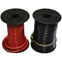 10 feet of 4 gauge red battery cable and 10 feet of 4 gauge black battery cable