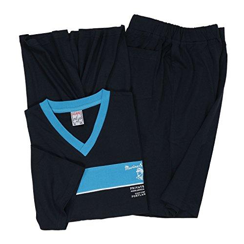 in Adamo 10xl Blue Dark a Set fino Pyjashort grandi dimensioni 6IIqaw4
