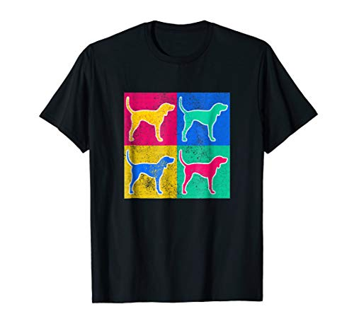 Treeing Walker Coonhound Pop Art Cool Dog Artwork T-Shirt