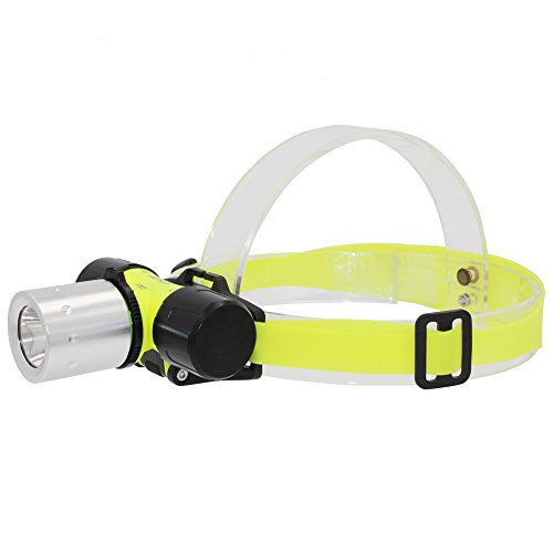 Whaitfire Diving Headlamp, Underwater 900 Lumens Submarine Head Torch, Lightweight Safety Head Light for Diving Swimming Hiking Camping Hunting Fishing, 18650 Battery Included by Whaitfire