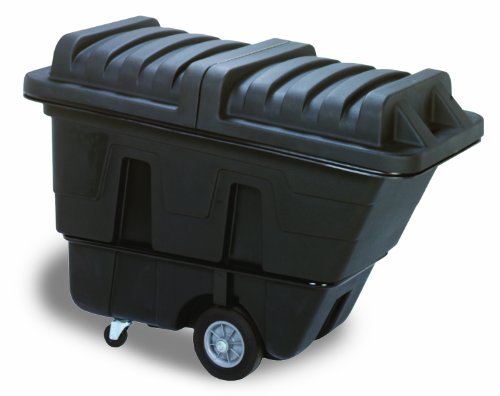 Continental 5840BK, Black Standard Duty 5/8 Cubic Yard Tilt Truck, 750 lbs Capacity, 38