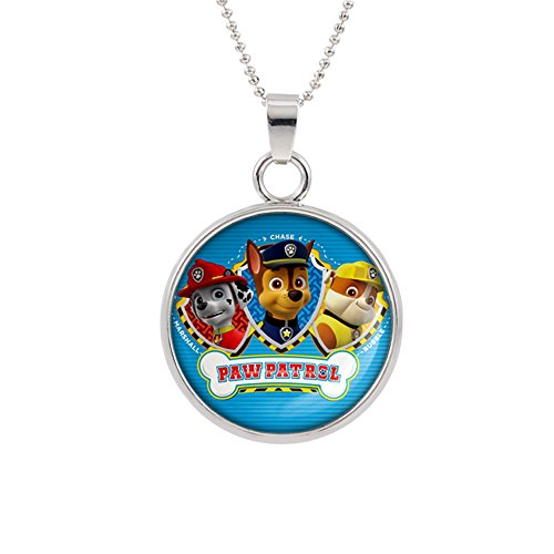 - Paw Patrol Pendant Necklace TV Comics Movies Cartoons Superhero Logo Theme Premium Quality Detailed Cosplay Jewelry Gift Series