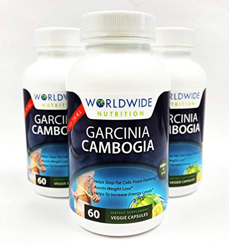 Worldwide Nutrition Garcinia Cambogia Extract. 75 Percent HCA Supplement. Weight Loss Supplement. Natural Appetite Suppressant. 1400 Milligrams Per Serving