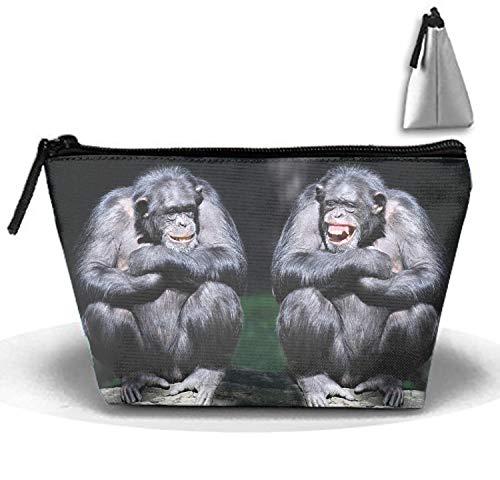 Animal Bonobo Monkeys Ape Monkey Smile Travel Toiletry Kit Multifunction Makeup Case