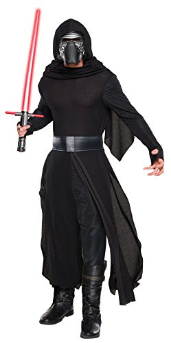 Cheap Star Wars Costumes (UHC Men's Star Wars Force Awakens Kylo Ren Deluxe Outfit Halloween Fancy Costume, STD (36-40))