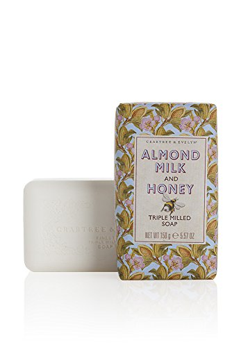 Crabtree & Evelyn Triple Milled Soap, Almond Milk and Honey, 5.57 oz