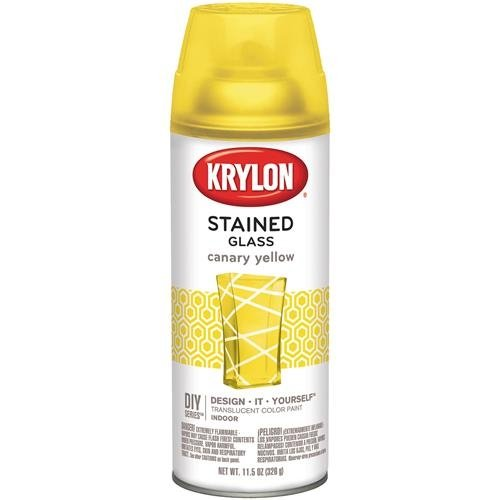 Krylon STG-9035 Stained Glass Paint 11.5oz - Canary - Glass Yellow Shade Light