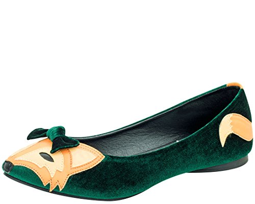 e53964bfff8 T.U.K. Shoes A8817L Green Velvet Foxy Vegan Flats 80%OFF - snipe.no
